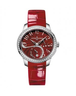 Ulysse Nardin Jade Diamonds Red Leather Strap Ladies 3103-125B/E6