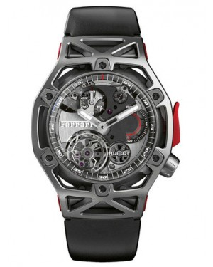Hublot Techframe Ferrari 70 Years Tourbillon Chronograph Titanium 408.NI.0123.RX