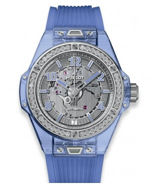 Hublot Big Bang One Click Blue Sapphire Diamonds 465.JL.4802.RT.1204