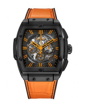 Hublot Spirit Of Big Bang All Black Orange Alligator Leather 601.CO.0190.LR