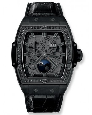 Hublot Spirit Of Big Bang Moonphase All Black Diamonds 42mm Mens 647.CI.1110.LR.1200