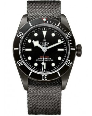 Tudor Heritage Black Bay Dark 41 mm PVD Steel Case Fabric Bracelet 79230DK-02