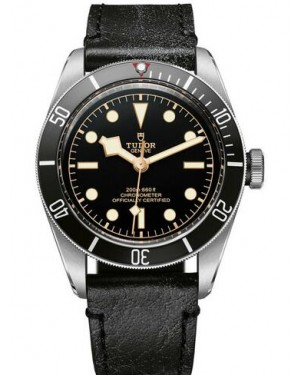 Tudor Heritage Black Bay Matt Black Disc Leather Strap 79230N-01