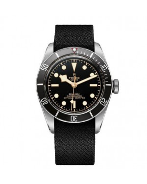 Tudor Heritage Black Bay Matt Black Disc Black Fabric Strap 79230N