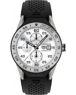 Tag Heuer Connected Modular 45mm Black Rubber Steel Bezel SBF8A8014.11FT6076
