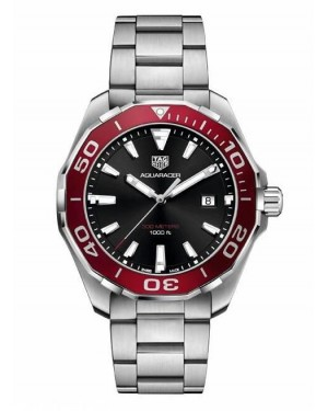 Tag Heuer Aquaracer Red Aluminum Black Dial WAY101B.BA0746