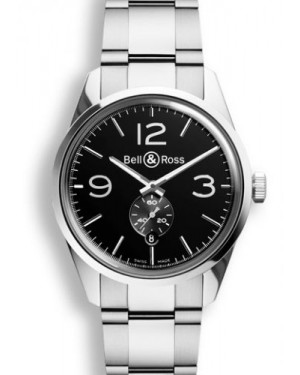 Bell & Ross BR 123 Officer Black BRG123BLSTSST