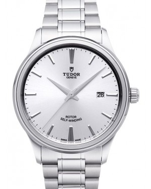 Tudor Style 41mm Silver Dial Steel Strap Mens 12700-1