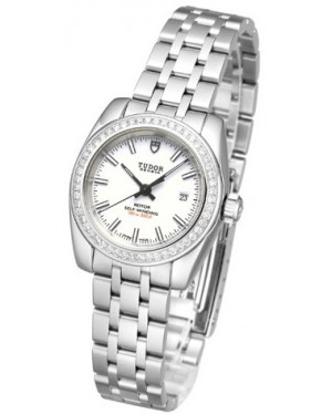 Tudor Classic Date Mother Of Pearl Dial Steel Strap Ladies 22020-1