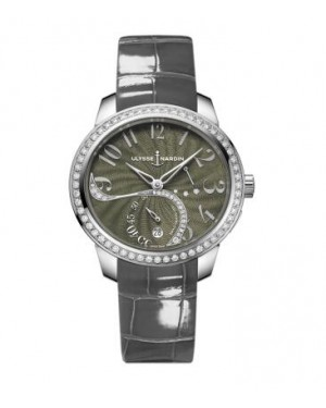 Ulysse Nardin Jade Diamonds Green Leather Strap Ladies 3103-125B/E1