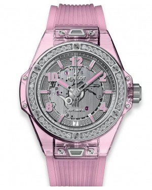 Hublot Big Bang One Click Pink Sapphire Diamonds 465.JP.4802.RT.1204
