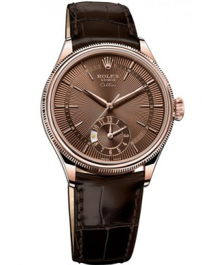 Rolex Cellini Dual Time 18ct Everose Gold 50525-0015