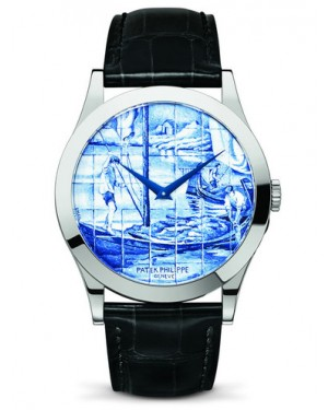 Patek Philippe Calatrava Enamel The Barge 5089G-062