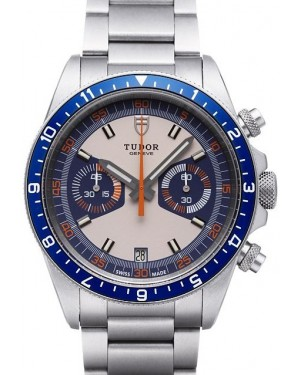 Tudor Heritage Chrono Blue Grey Dial Steel Strap Mens 70330B-95740